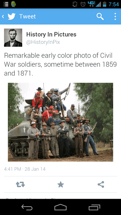 twitter history fake civil war