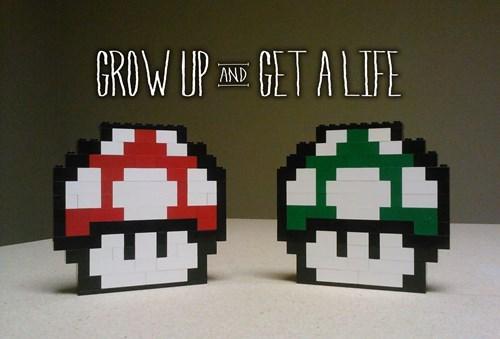 1 up,Super Mario bros,Mushrooms