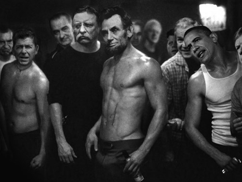 barack obama abraham lincoln fight club presidents Theodore Roosevelt teddy roosevelt jfk Ronald Reagan - 8397360640