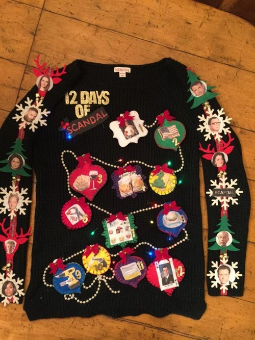 christmas scandal poorly dressed TV christmas sweaters g rated - 8397551616