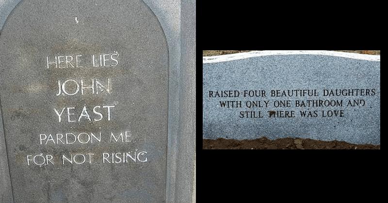 Funny epitaphs.