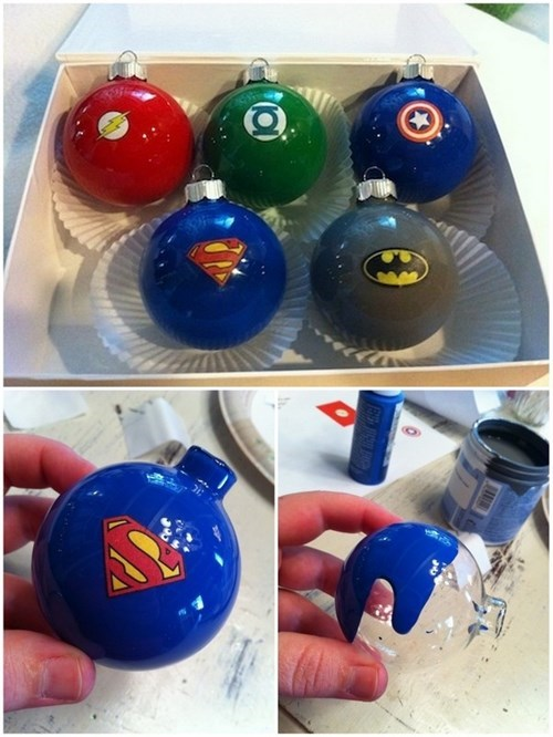 christmas,ornaments,superheroes,DIY