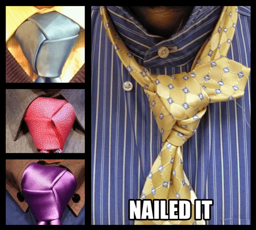 tie,poorly dressed,knot,Nailed It