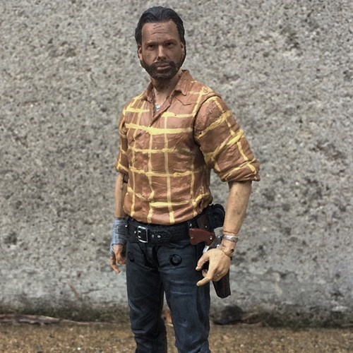 Rick Grimes,action figures,gone wrong,tanning