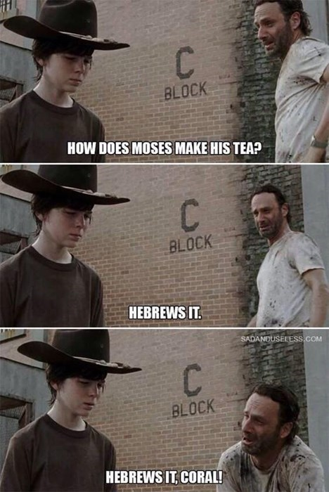 Walking Dad Jokes Rick Grimes moses - 8397676544