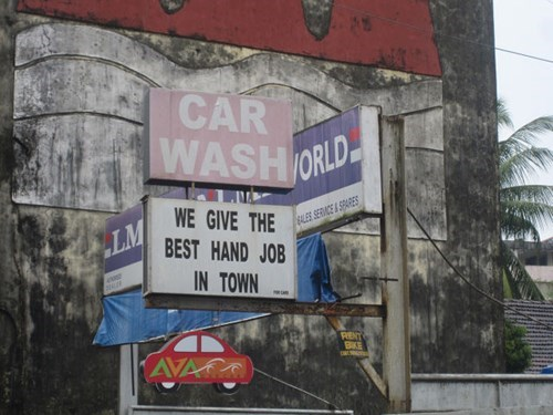 monday thru friday,sign,fine print,car wash