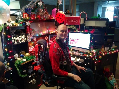 monday thru friday,christmas,decoration,cubicle,g rated