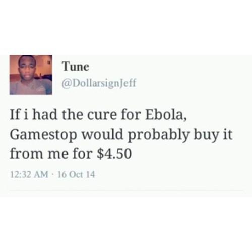ebola medicine gamestop twitter - 8397951488
