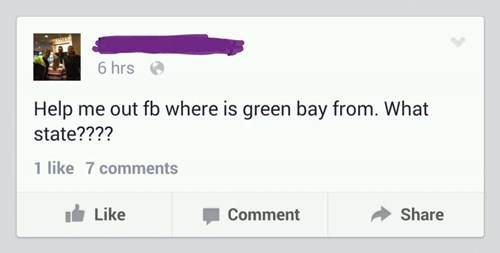 facepalm green bay geography wisconsin google