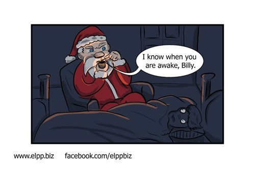 creepy santa web comics Xmas