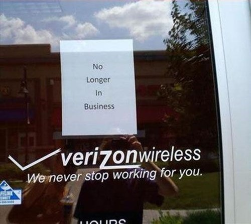 monday thru friday sign verizon