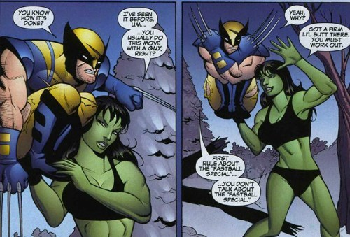 Straight off the Page,she hulk,wolverine