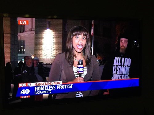 live news protests homeless