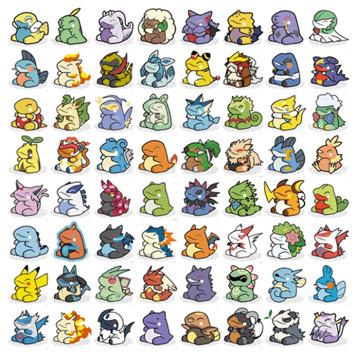 Pokémon Drawn in the Style of Substitute