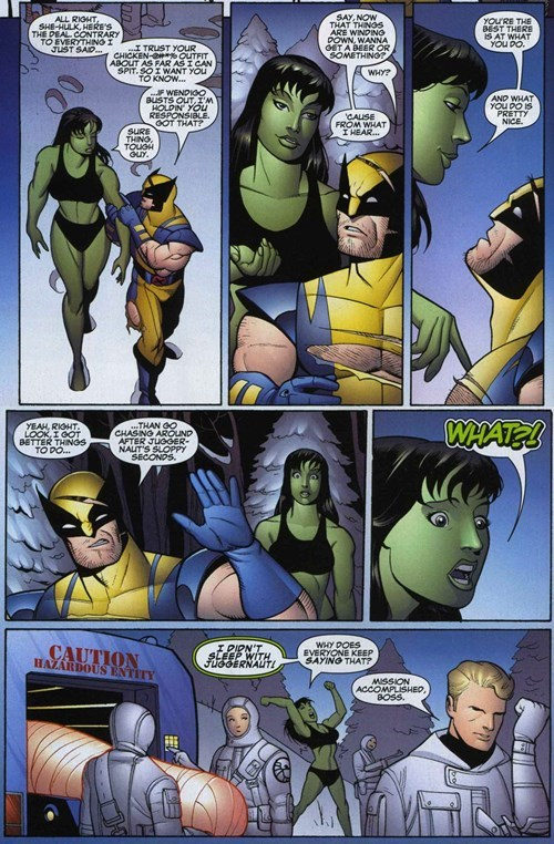 Straight off the Page she hulk wolverine - 8398685184