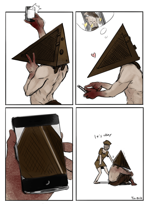 silent hill,pyramid head,selfie