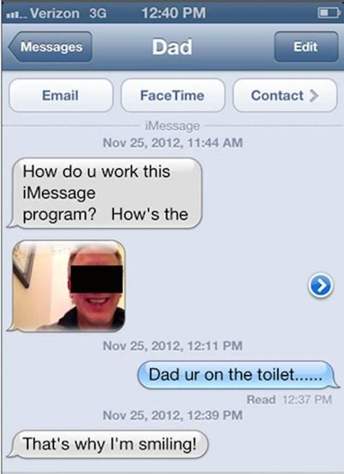 parentbook bathroom Overshare dad texting - 8398757632