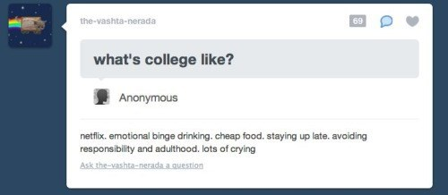 school,feels,tumblr,college