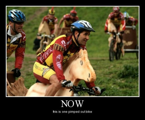 awesome bike funny Horse Racing chariots - 8399428864