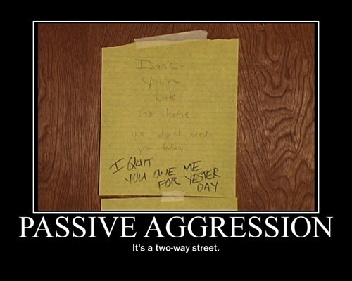 funny notes passive aggressive work - 8399430400