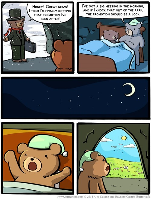 bears in this economy sleeping winter web comics hybernation - 8399469568