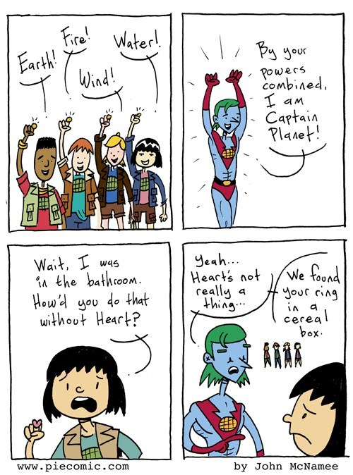 captain planet heart sad but true web comics - 8399485440