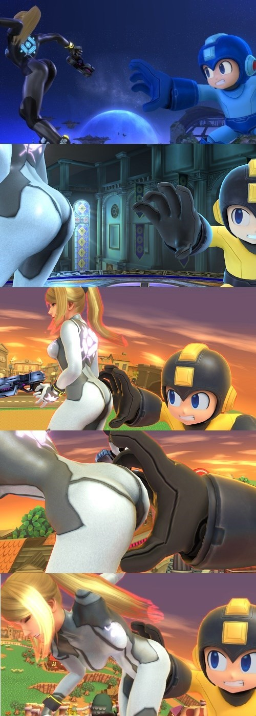 dat ass super smash bros zero suit samus mega man gotta get dat - 8399487488