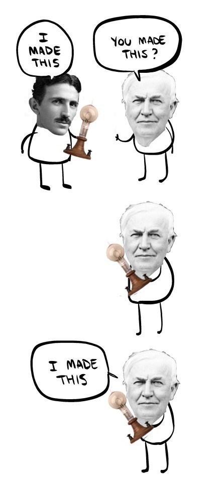 thomas edison Nikola Tesla - 8399559424