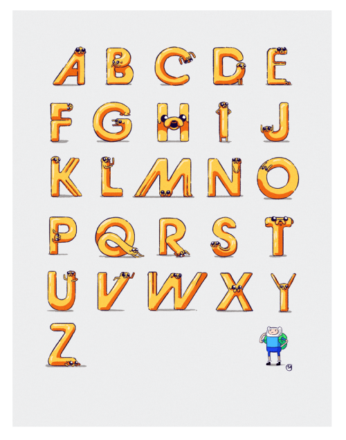 alphabet Fan Art cartoons adventure time - 8399578624