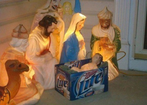 jesus,christmas,beer,Nativity