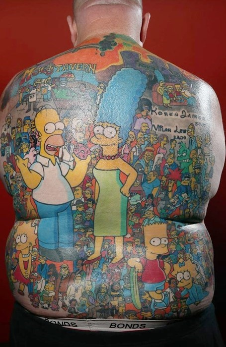 tattoos,BAMF,the simpsons
