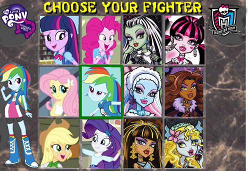 monster high,equestria girls,Mortal Kombat,parody