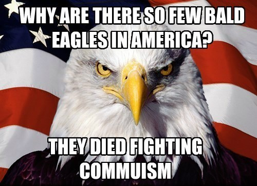 russia damn commies communism bald eagles commies cold war - 8399857664