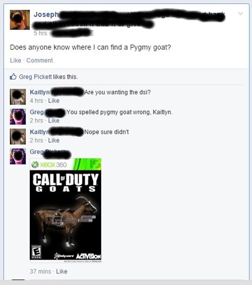 call of duty,goats,puns,what