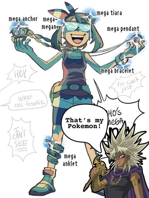 Pokémon may Yu Gi Oh mega stones - 8399893760