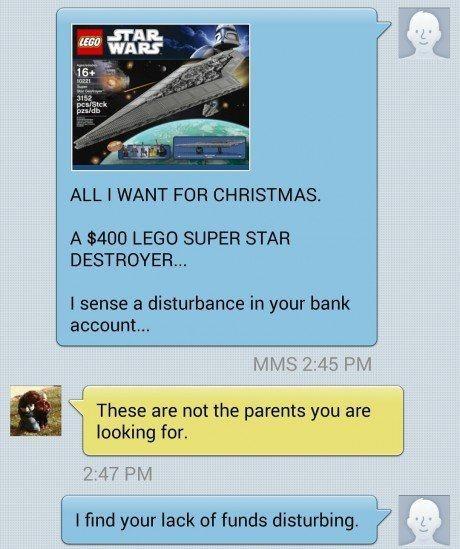 christmas kids lego star wars parenting present text