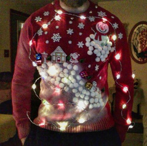 christmas poorly dressed christmas sweaters christmas lights light