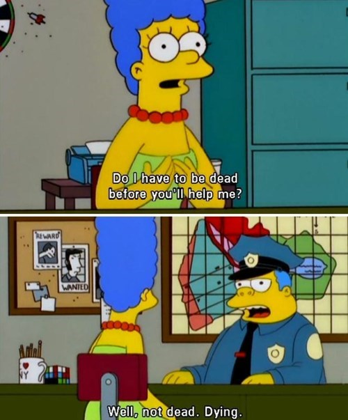 cops,chief wiggum,the simpsons,police
