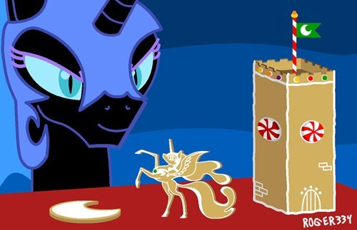 gingerbread house nightmare moon - 8400369920
