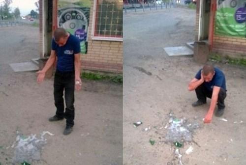 beer broken funny spill - 8400381184