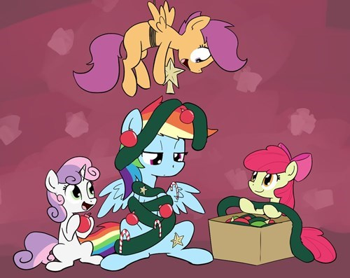 apple bloom christmas decorations cutie mark crusaders Scootaloo rainbow dash Sweetie Belle - 8400385792