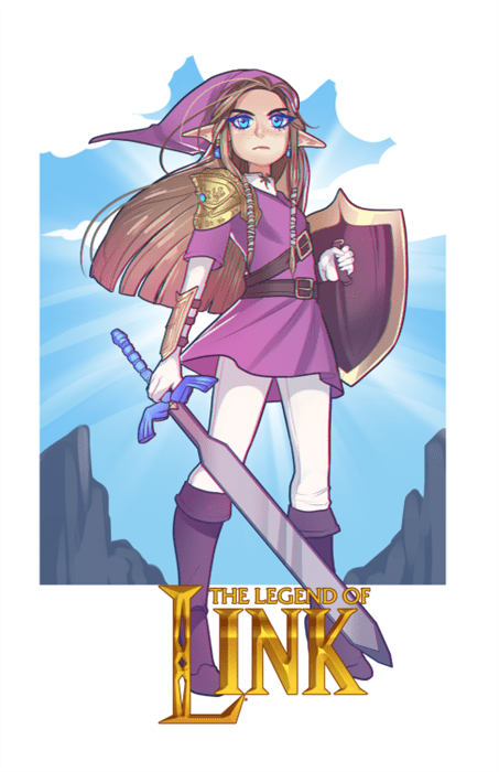 awesome Fan Art video games zelda link but not rly - 8400402688
