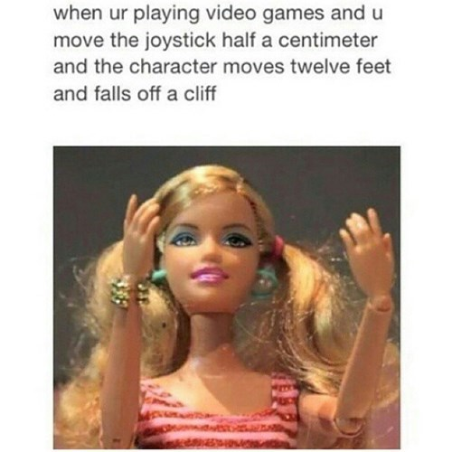 Barbie,gamers,video games,struggle