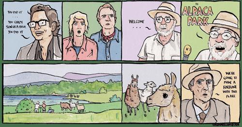 jurassic park,alpacas,web comics