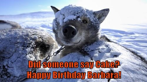 Did someone say Cake?                   Happy Birthday Barbara!