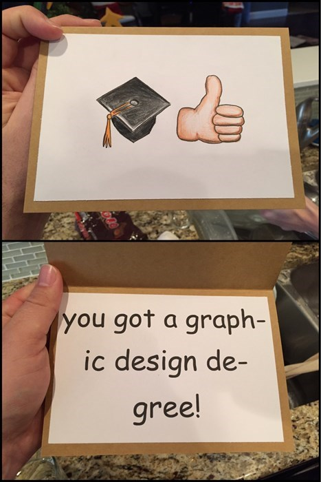 degree graduation graphic design funny