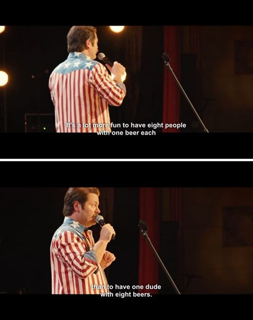 beer,stand up,Nick Offerman,funny