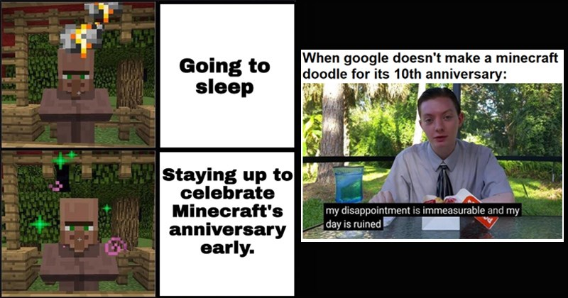 10th anniversary gaming funny memes minecraft tenth anniversary 2009 minecraft aniversary video games decade - 8402181