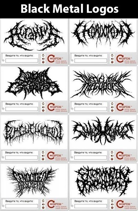 metal,Music,captcha,recaptcha,black metal logos,black metal