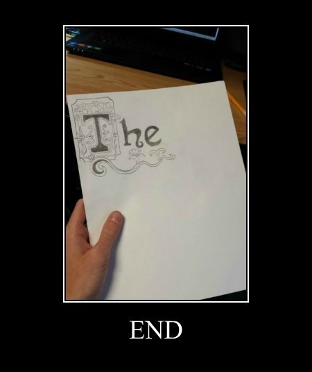 drawing funny The End - 8402432768